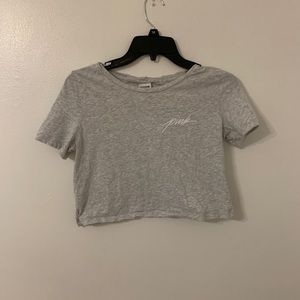 Cropped Gray tee